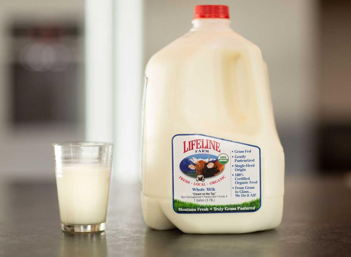 Lifeline farm low temperature pasteurized whole milk