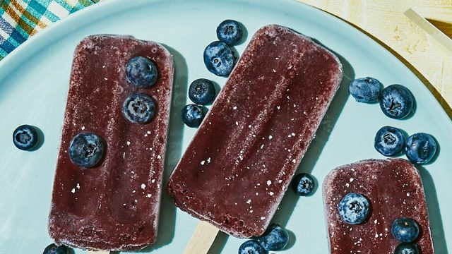 chloes blueberry pops on a plate