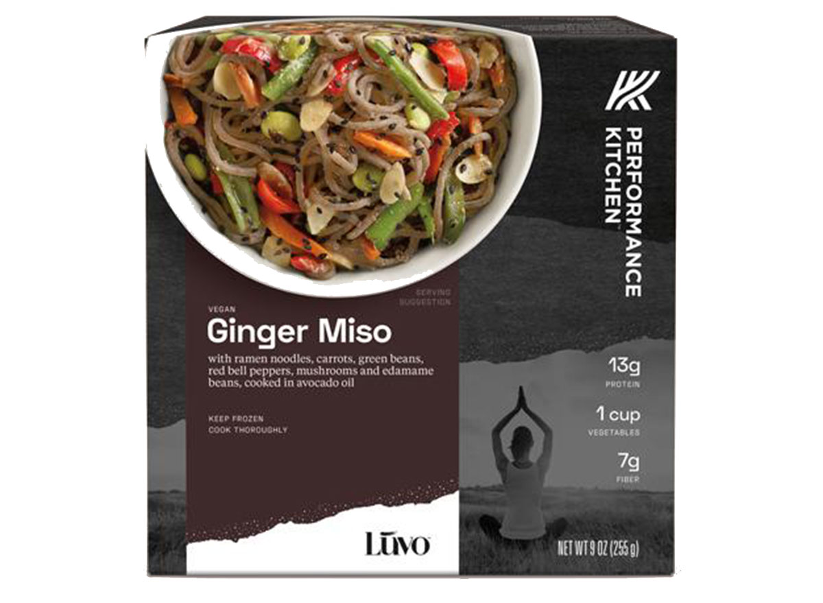 luvo ginger miso frozen meal