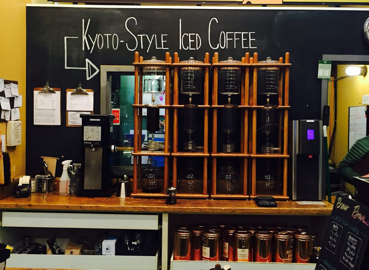 iced coffee bar at metropolis in chicago