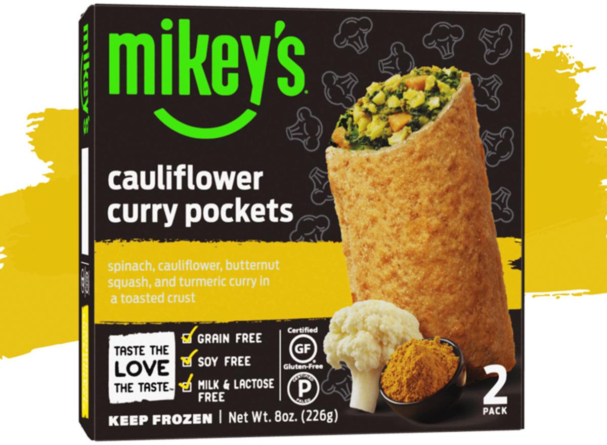 mikeys cauliflower curry pockets frozen meals