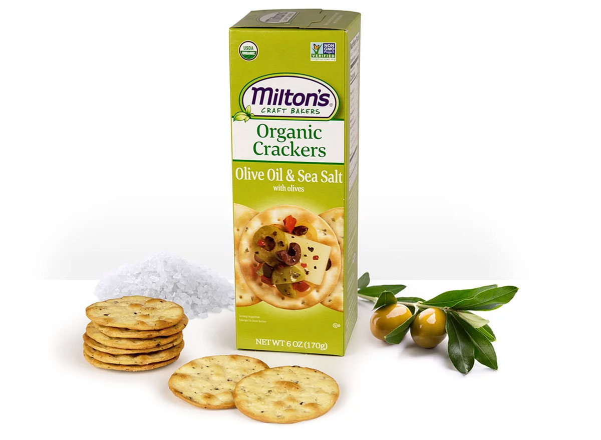 miltons olive oil organic crackers