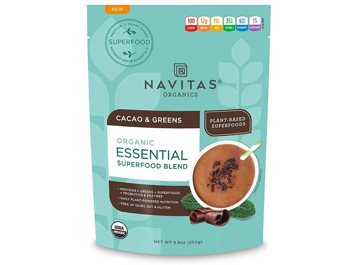 Navitas Organics Cacao and Greens Superfoods Protein Powder