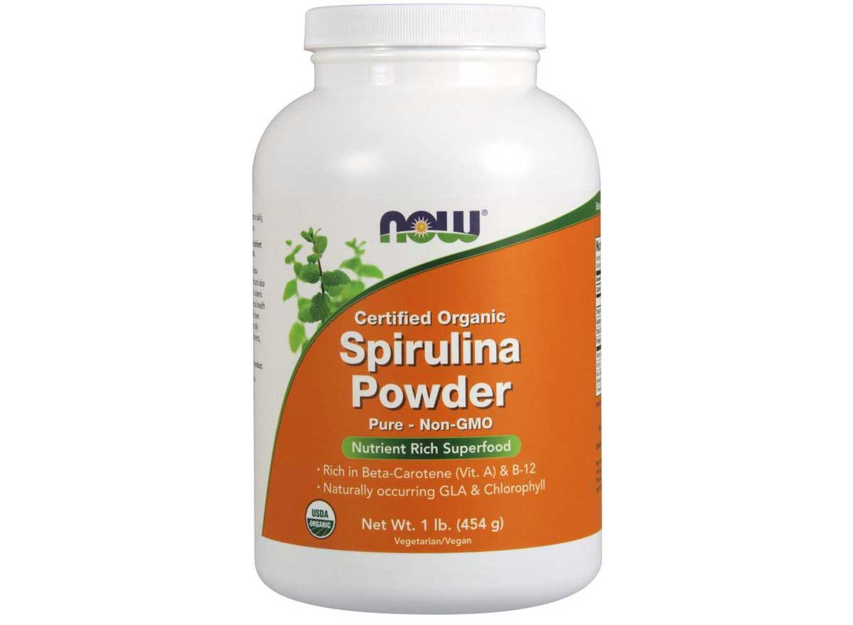 NOW Organic Spirulina powder