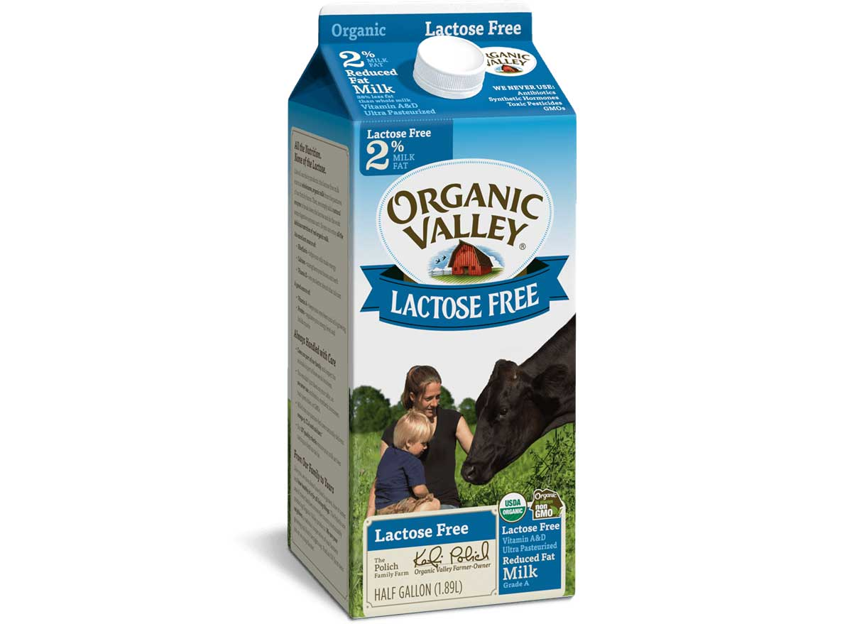 Organic valley lactose free milk
