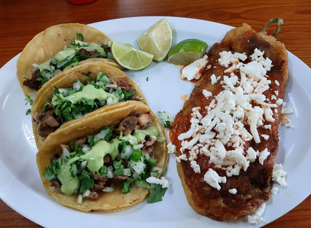 pork belly tacos with limes and guac