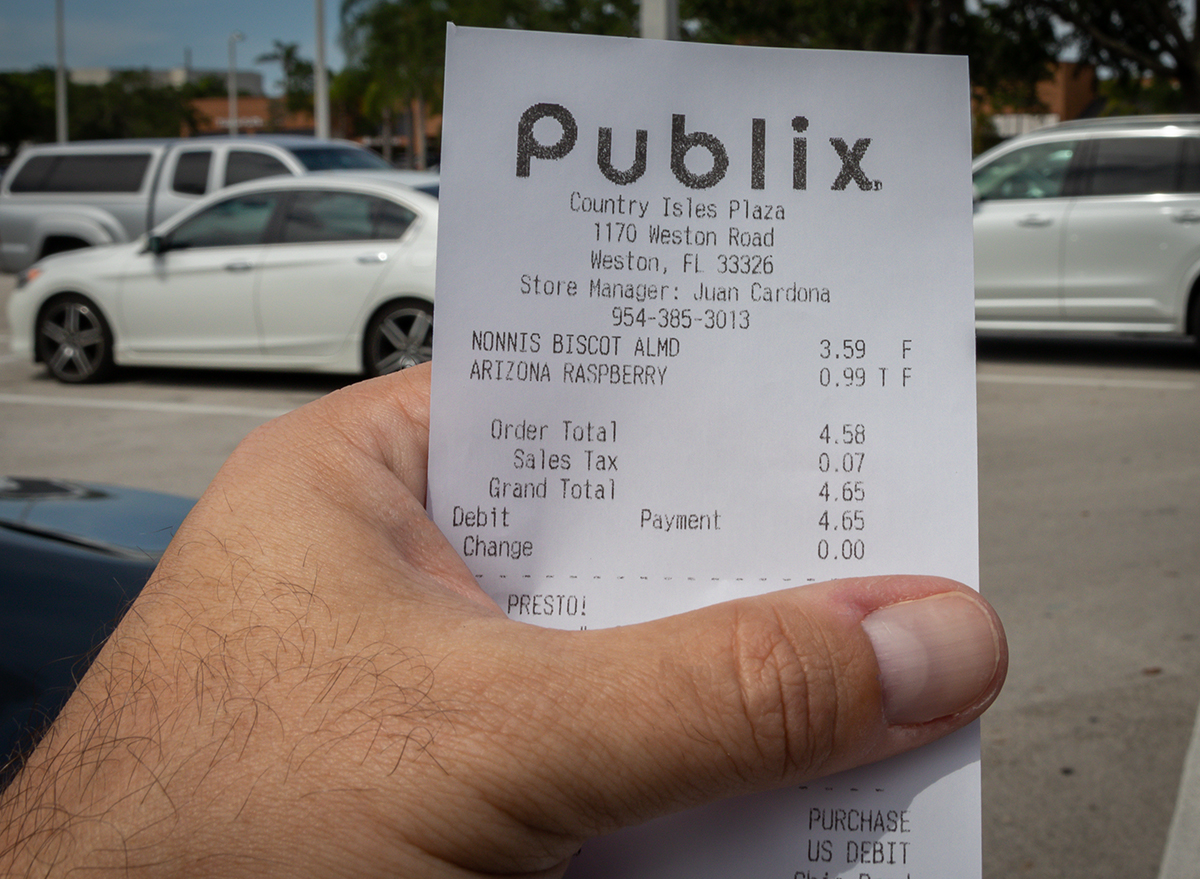 publix receipt