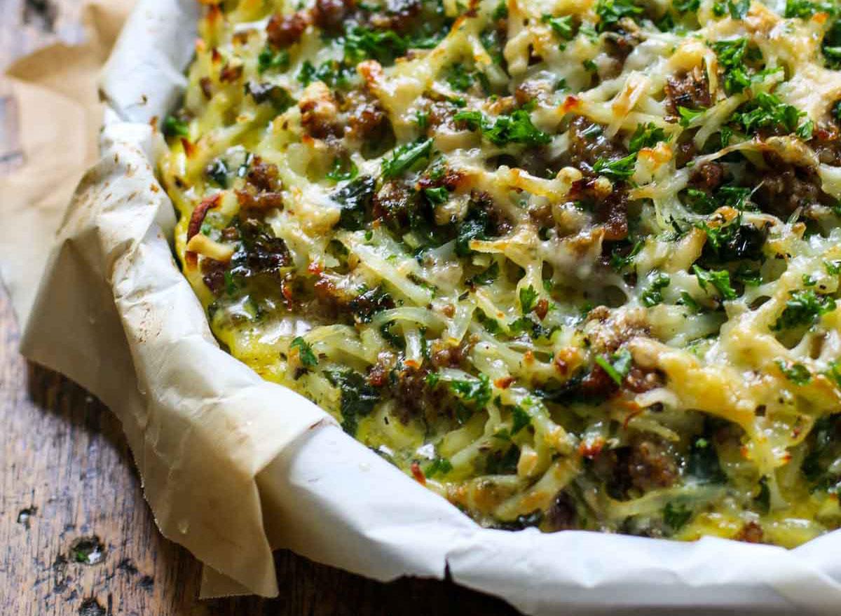 sausage and potato pie