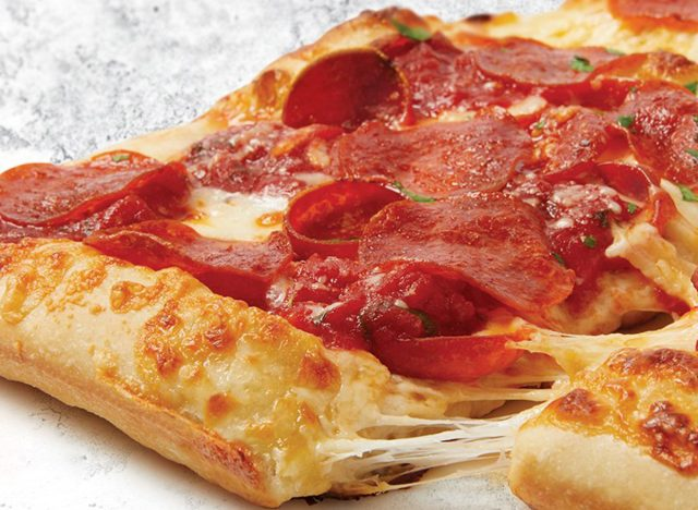 sbarro double duo pepperoni pizza