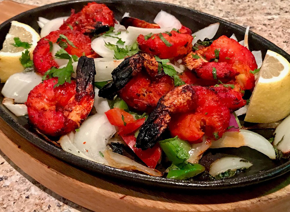 shrimp vindaloo at mount everest indias cuisine in las vegas