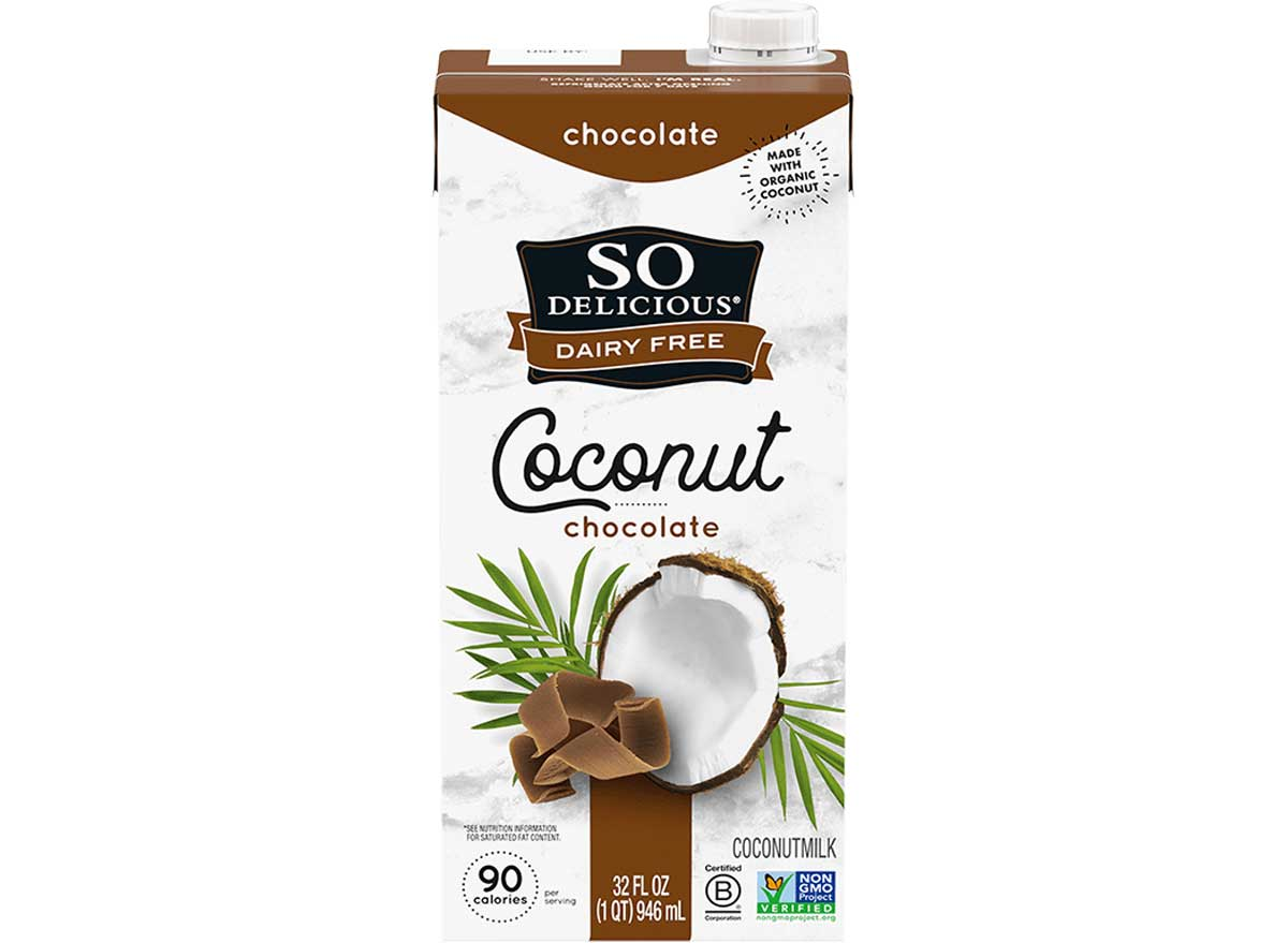 So delicious dairy free coconut chocolate