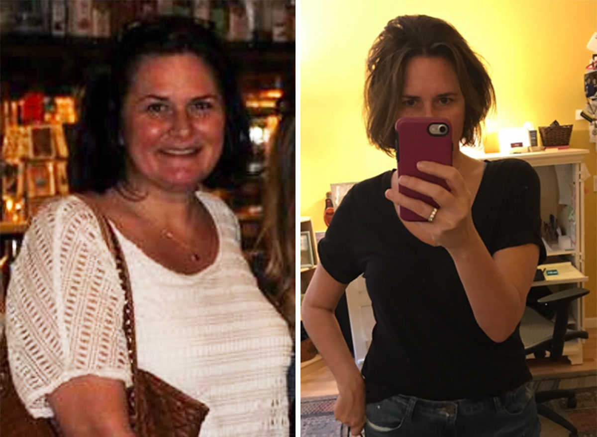 before and after shot of stephanie elliot
