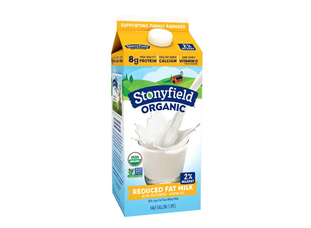 Stonyfield organic milk reduced fat