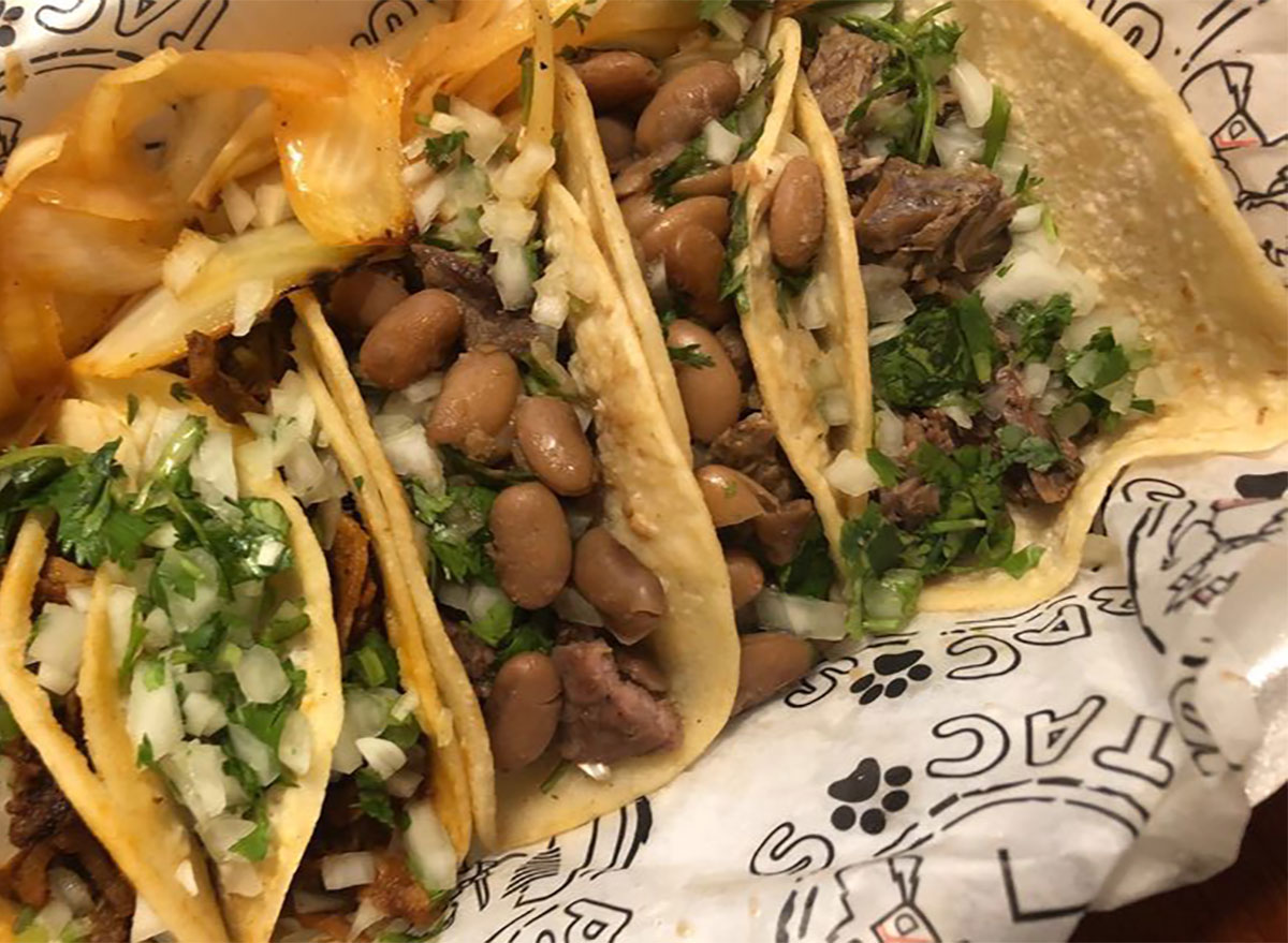 variety of tacos