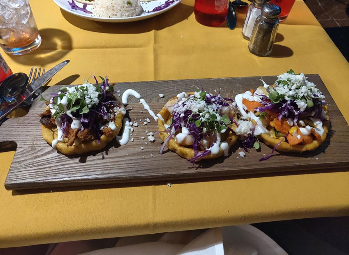 tacos on serving platter
