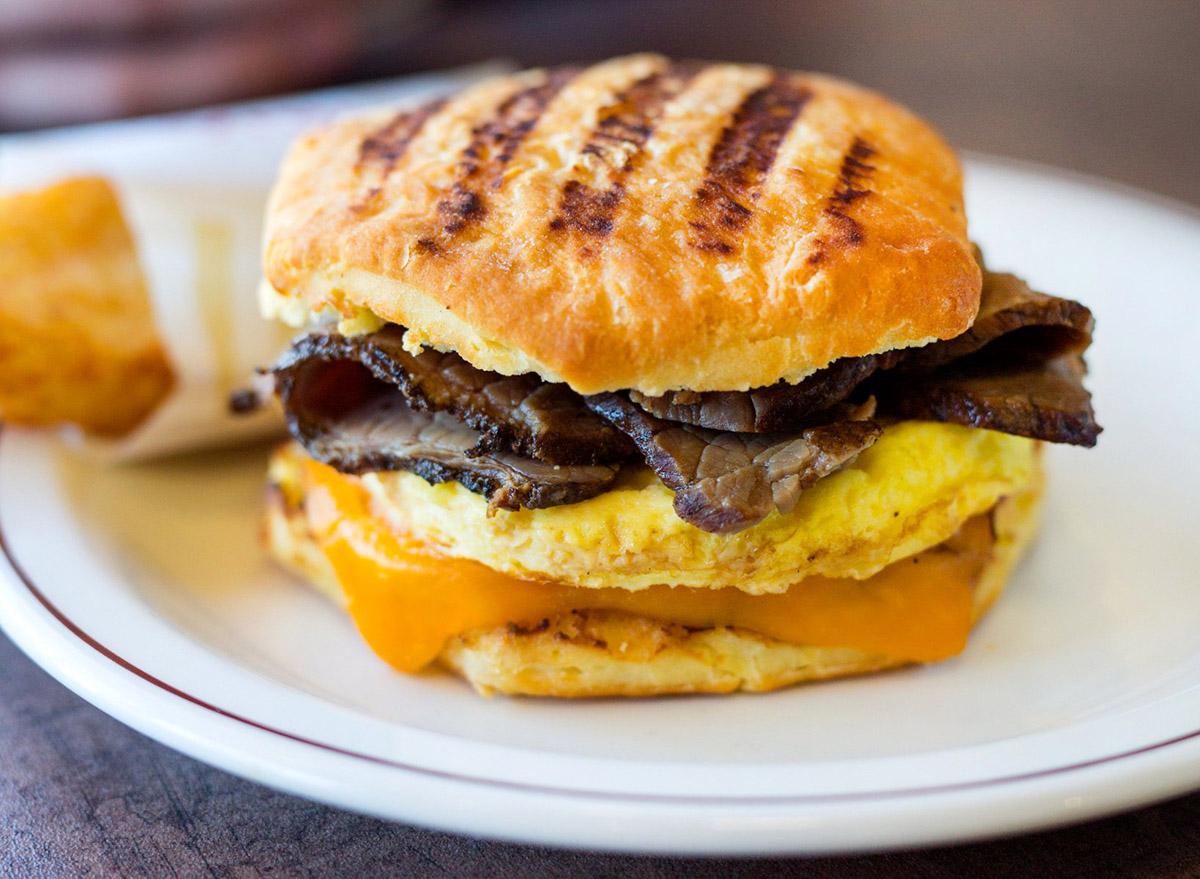 tim hortons angus steak and eggs breakfast sandwich