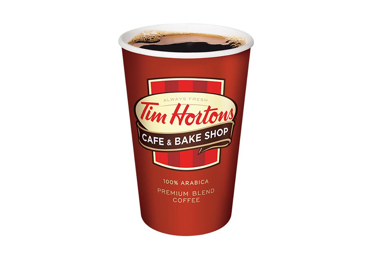 tim hortons original blend hot coffee