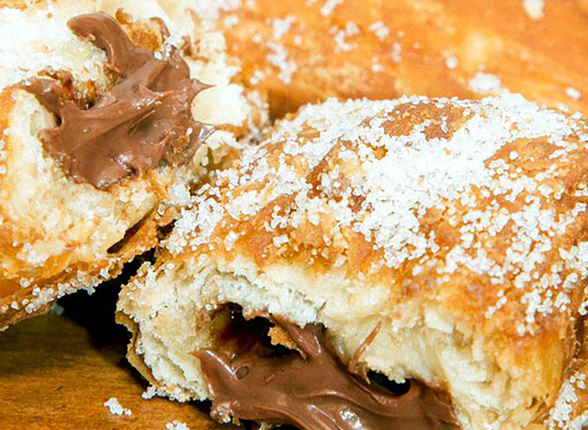 tim hortons pastry pocket filled with nutella