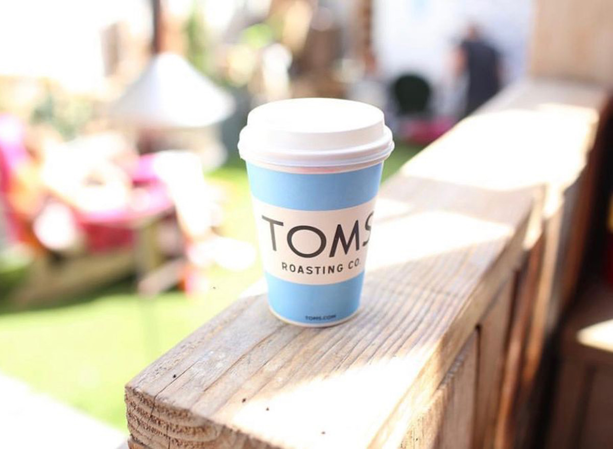 cup of coffee at toms in los angeles