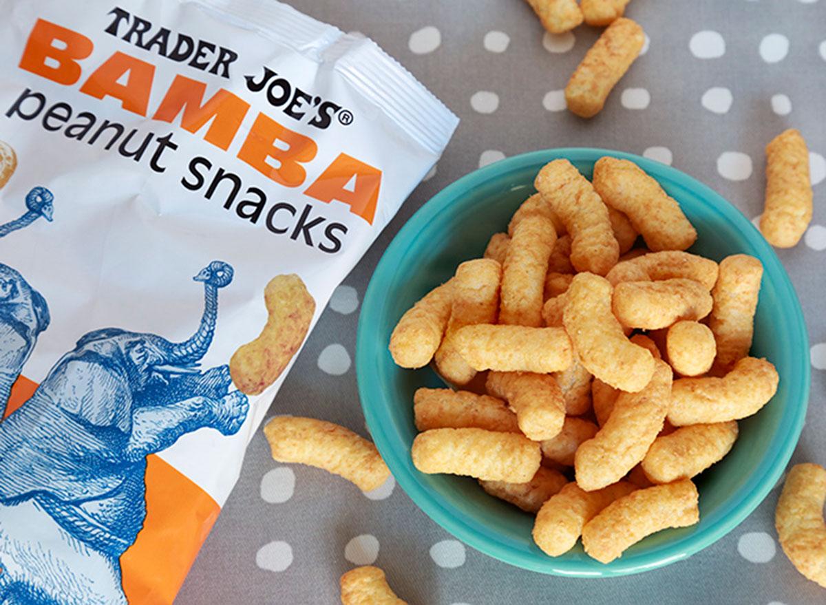 trader joes bamba peanut snacks