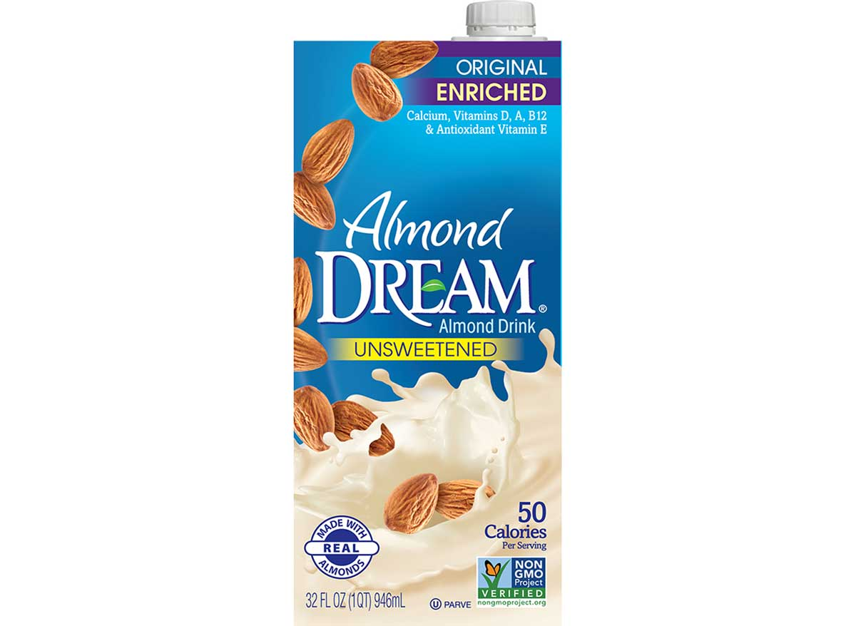 Almond Dream unsweetened almond milk