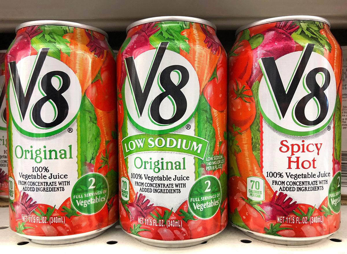 v8 cans