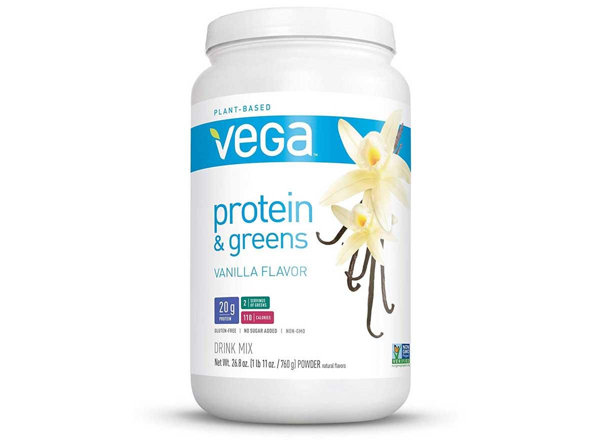 Plant based vega protein and greens vanilla flavor
