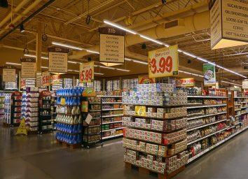 aisles of food at wegmans