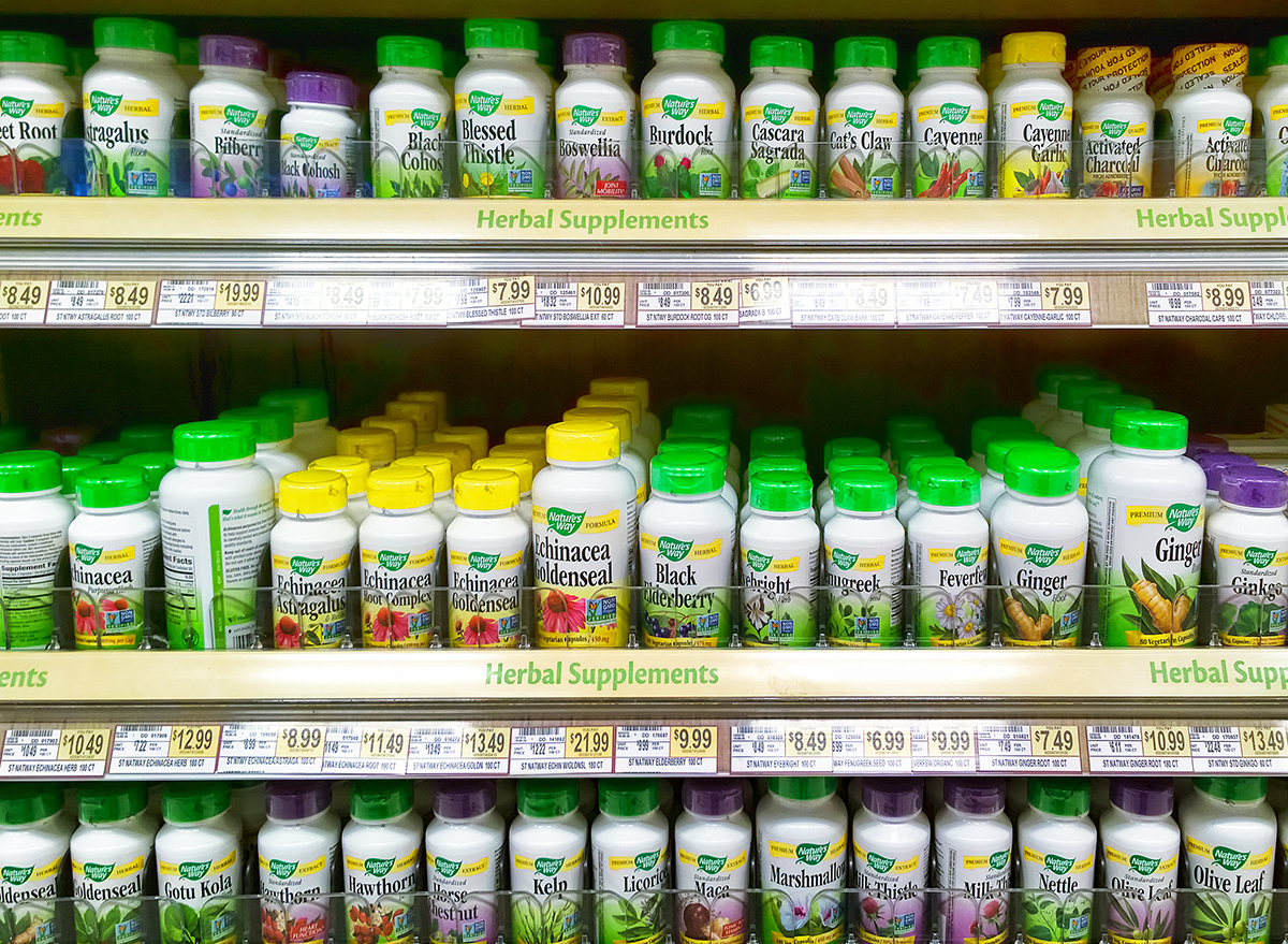 supplement aisle at wegmans