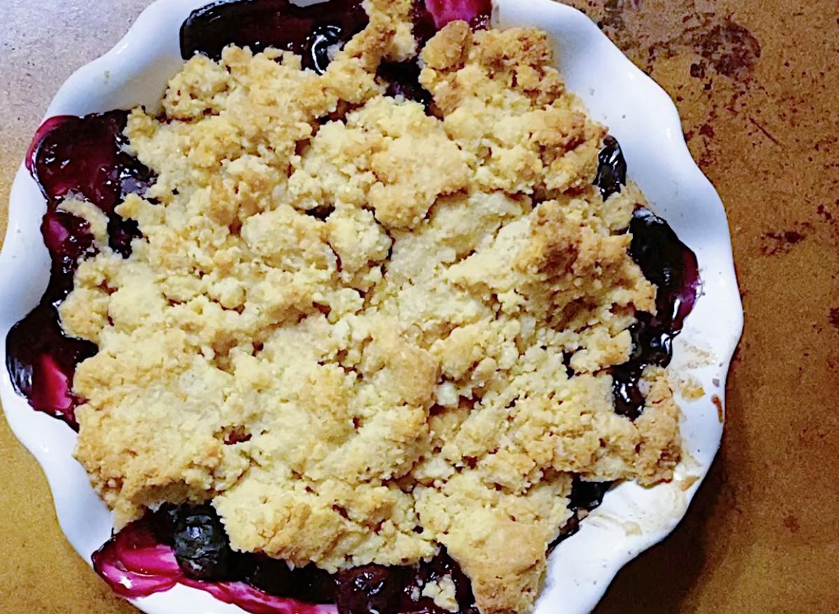 whole30 blueberry cobbler