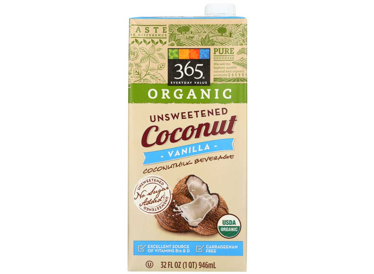 365 organic unsweetened coconut milk beverage unsweetened