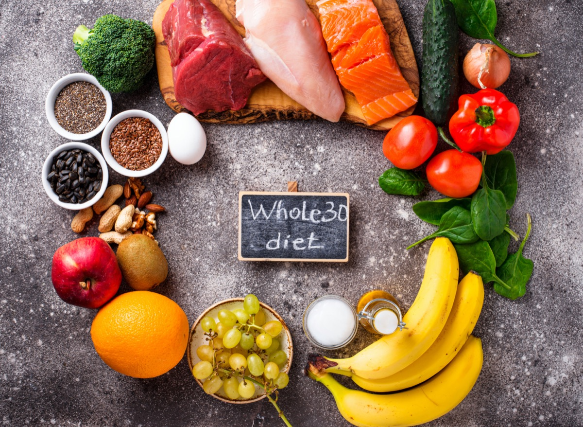 Product for Whole 30 diet. Healthy food