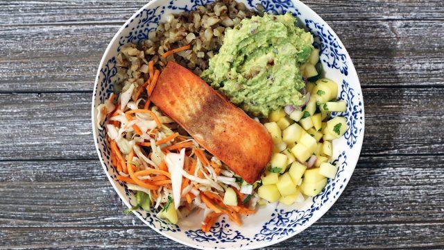 whole30 fish taco bowl