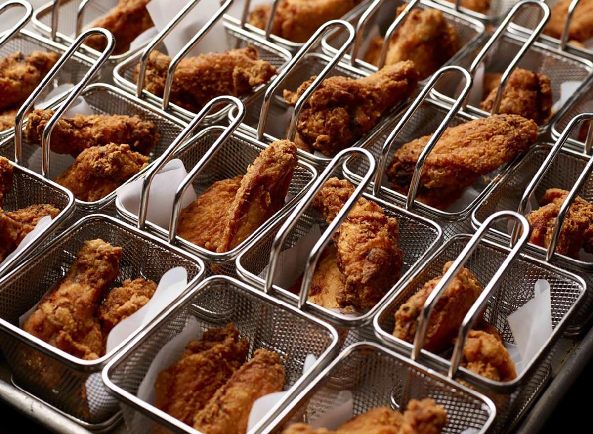 wicked spoon buffet baskets of fried chicken