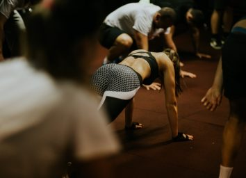 hiit interval training. High intensity interval training group indoors S