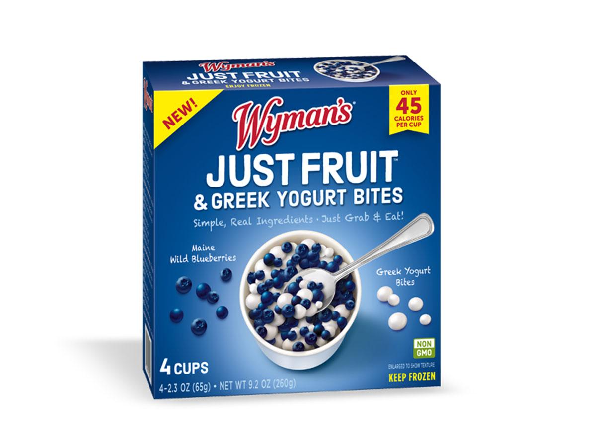 wymans fruit and yogurt bites