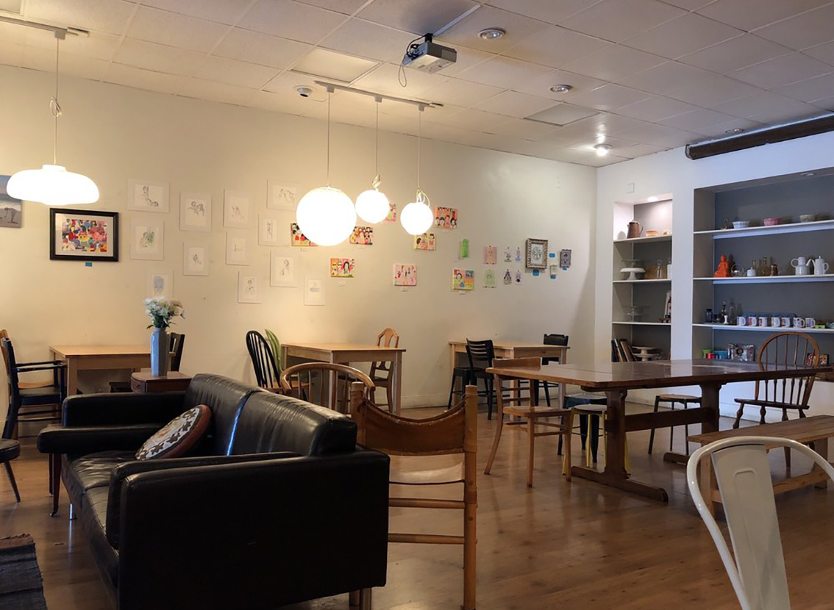 interior of yakinq cafe in san francisco