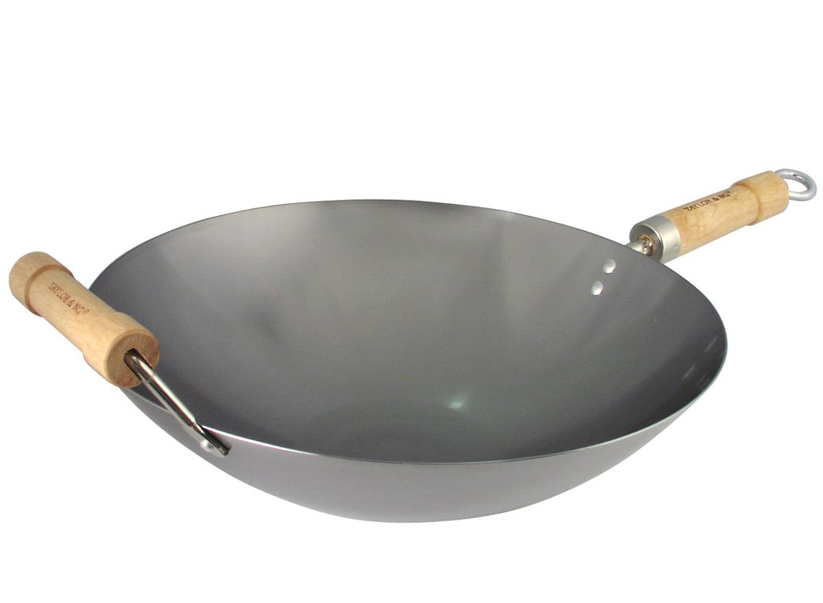 14 Inch Carbon Steel Non-Seasoned Round Bottom Wok