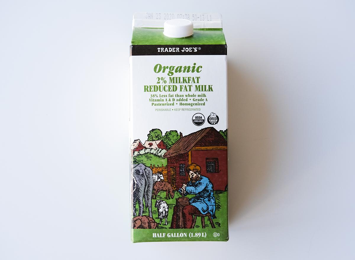 organic reduced fat milk from trader joe's
