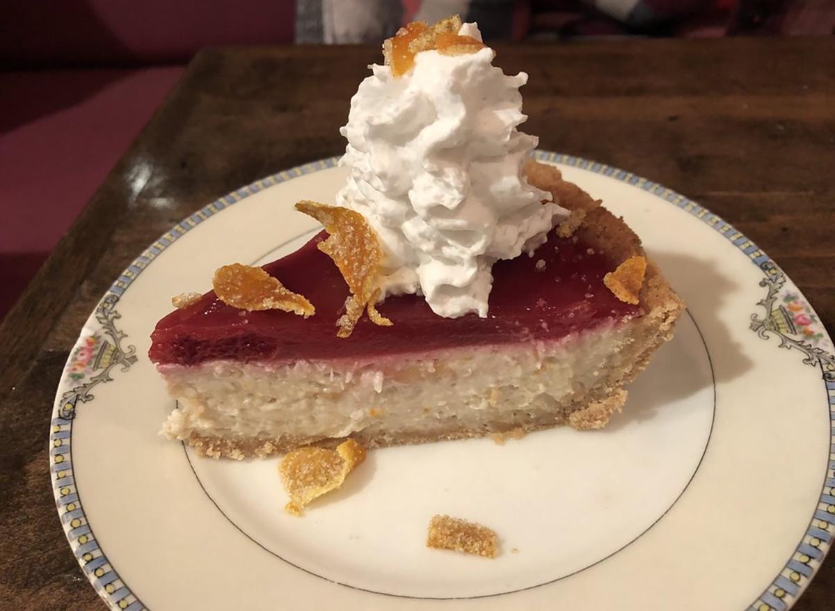 slice of blood orange coconut pie