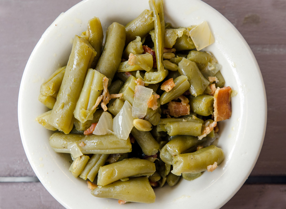 Canned green beans bacon onion