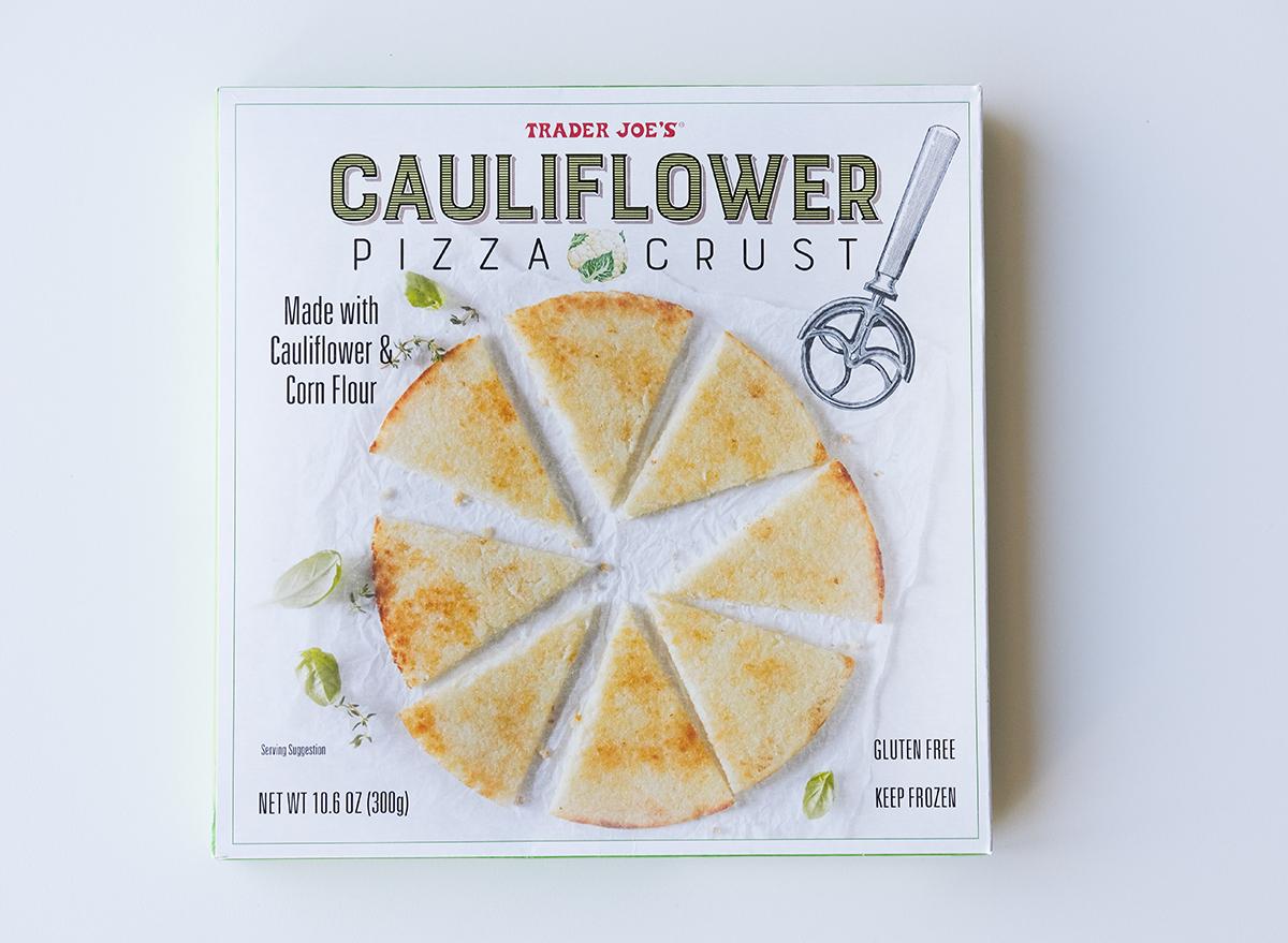 cauliflower pizza crust from trader joe's