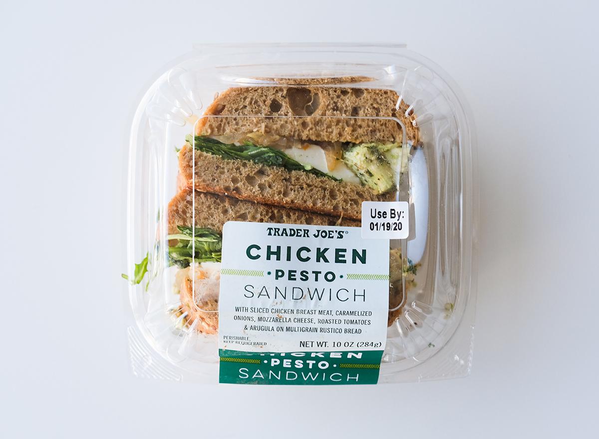 chicken pesto sandwich from trader joe's