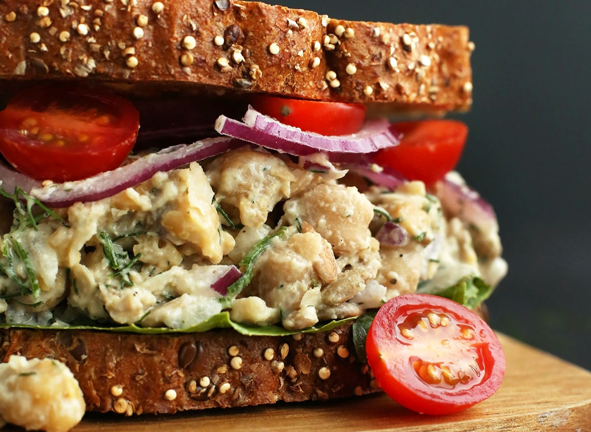 Chickpea faux tuna sandwich