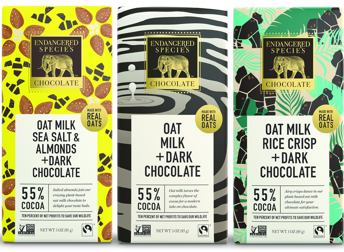 endangered species oat milk chocolate bars