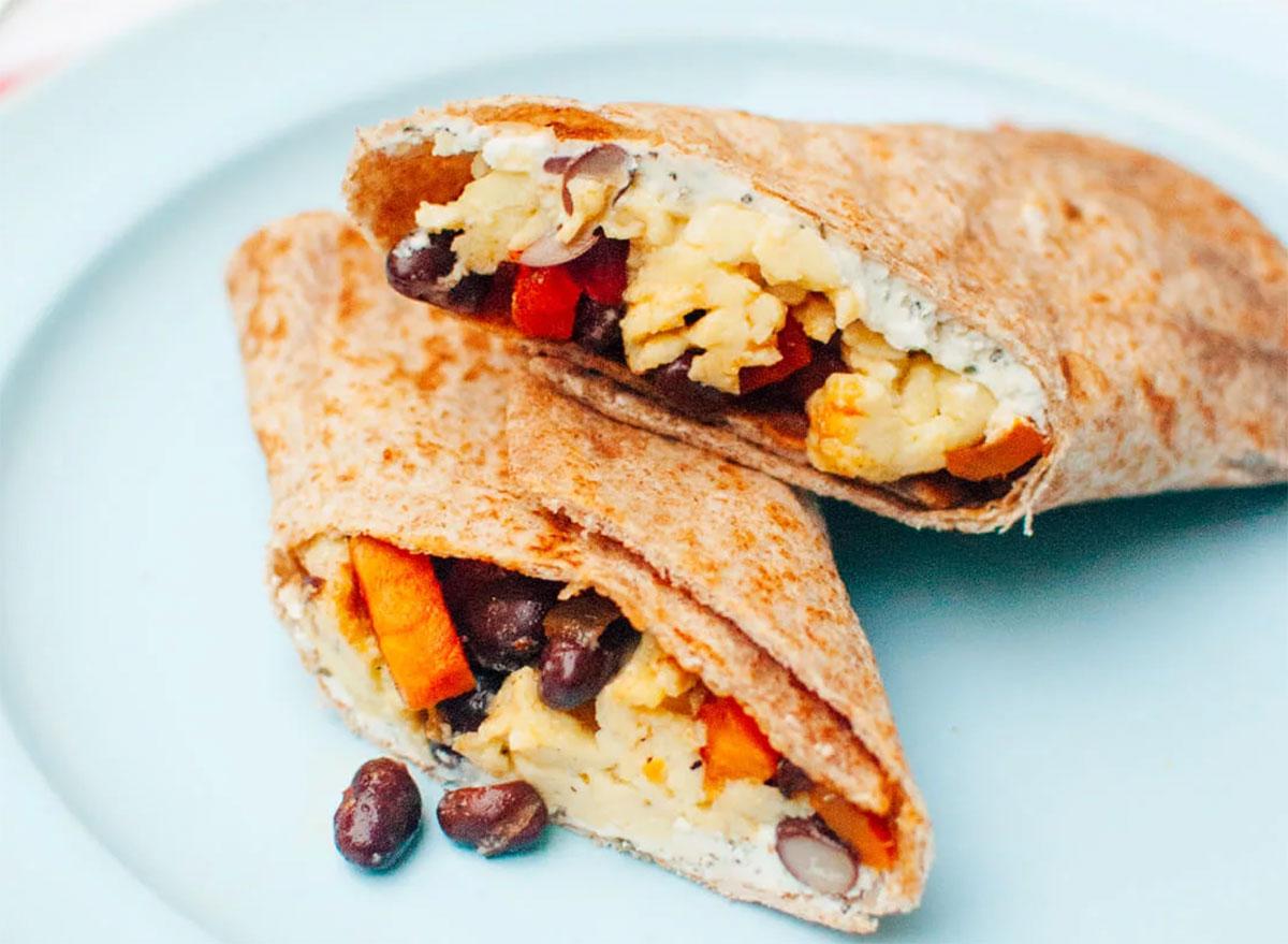 freezer breakfast burrito