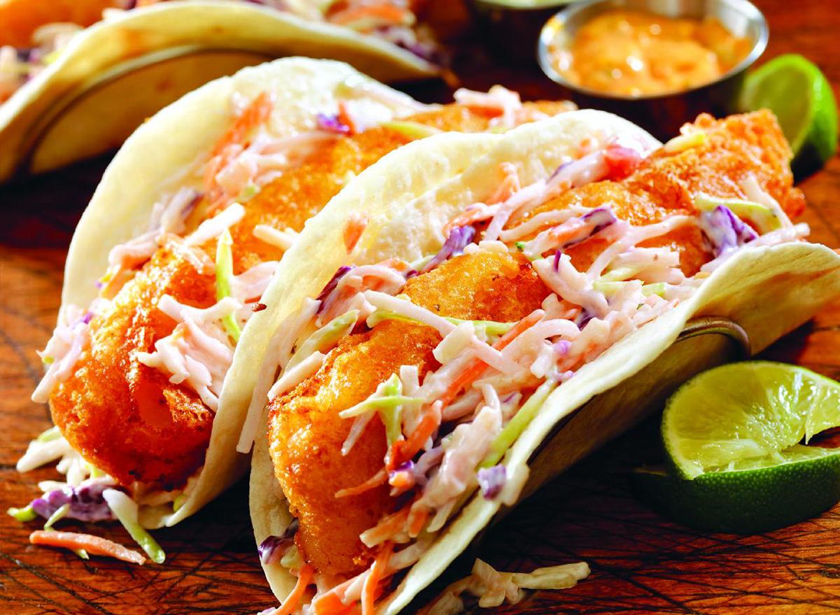golden corral crispy fish taco