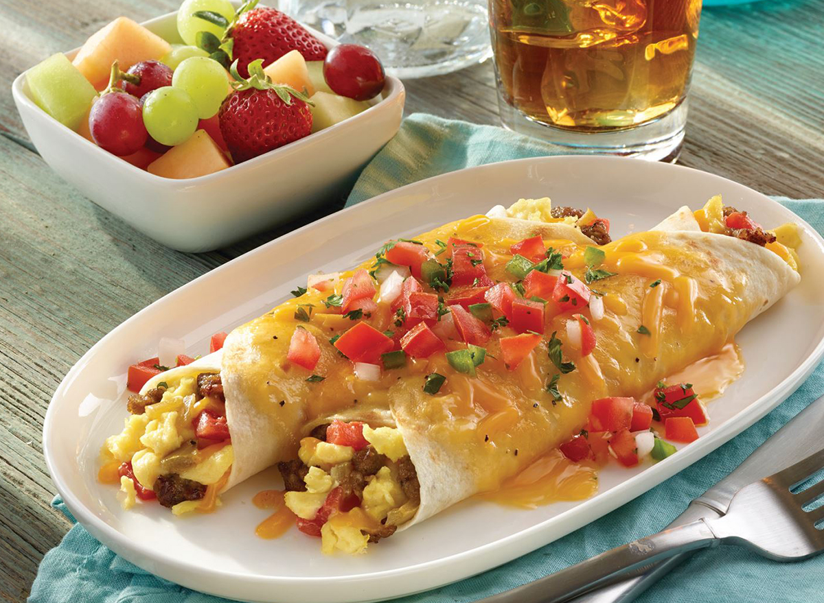 golden corral sausage and egg burrito