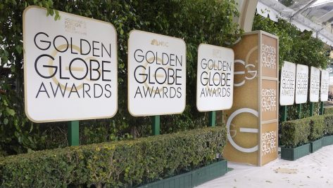 entrance walkway to the golden globes