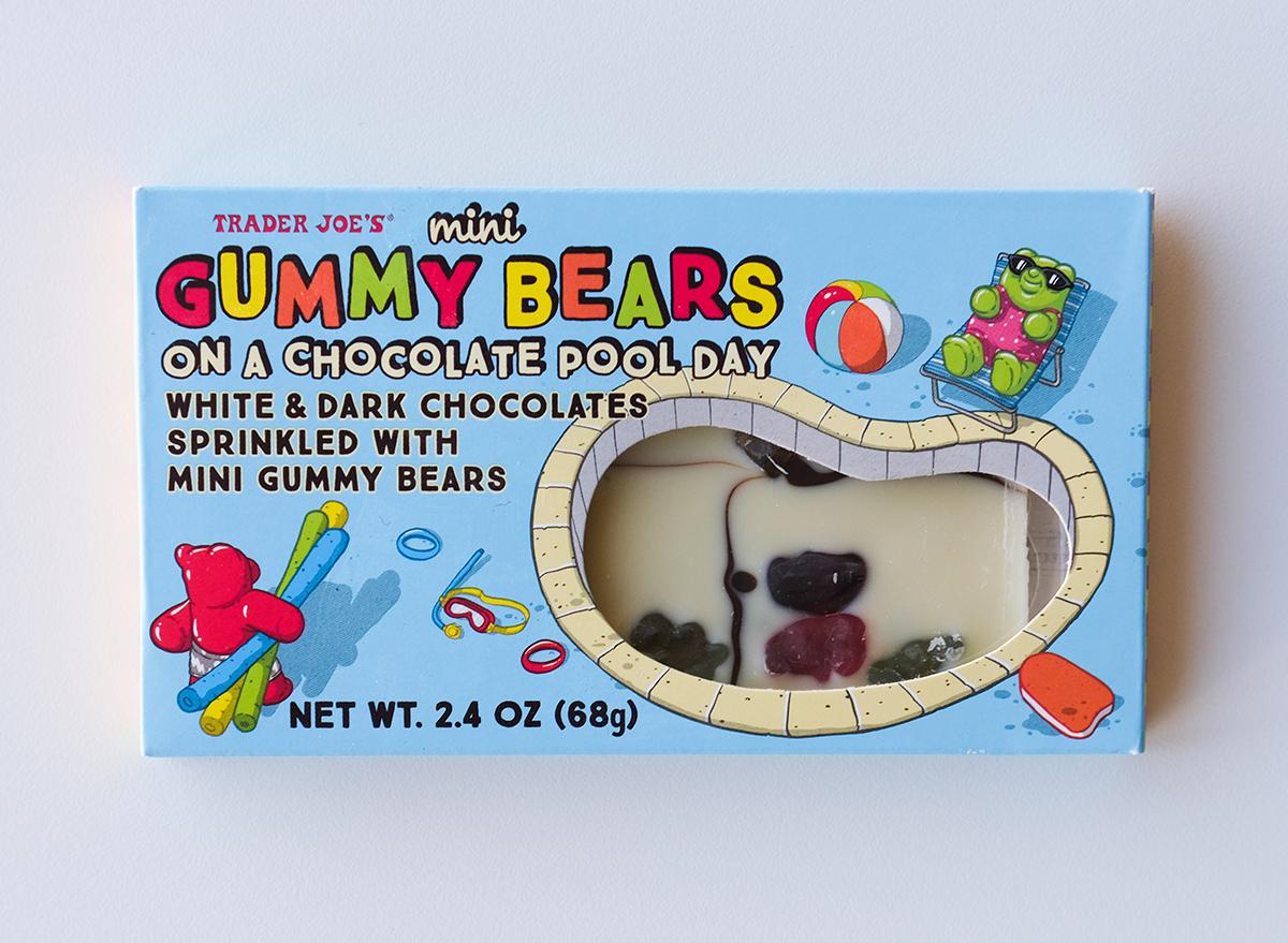 white gummy bear chocolate from trader joe's